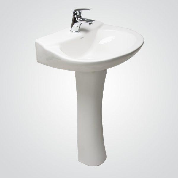 Lavamanos Valencia Premium con pedestal al piso