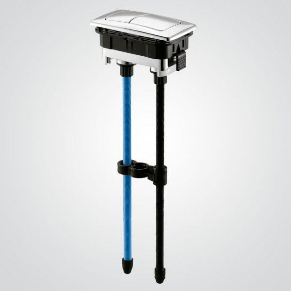 Botón dual flush rectangular